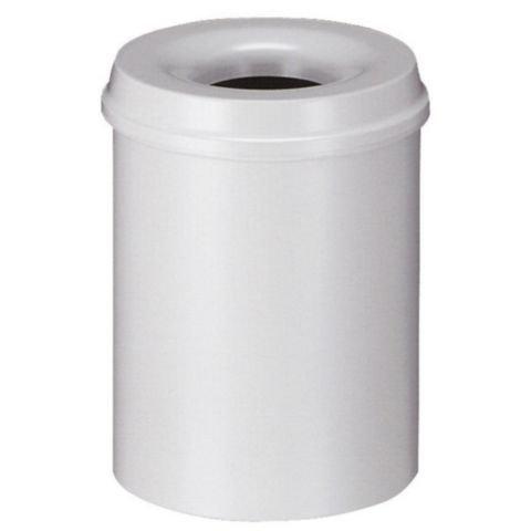 V-PART Papierbak 15l metaal vlamdov. grijs