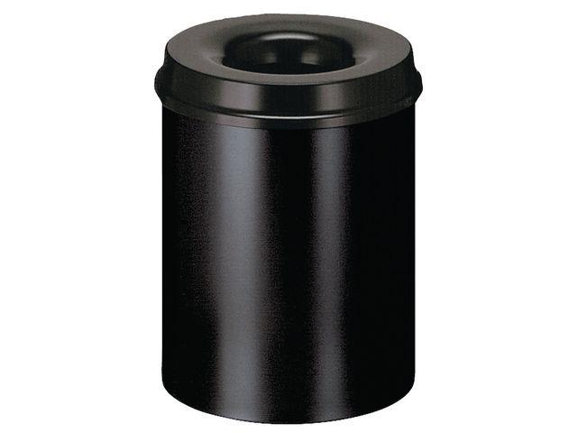 V-PART Papierbak 30l metaal vlamdov zwart