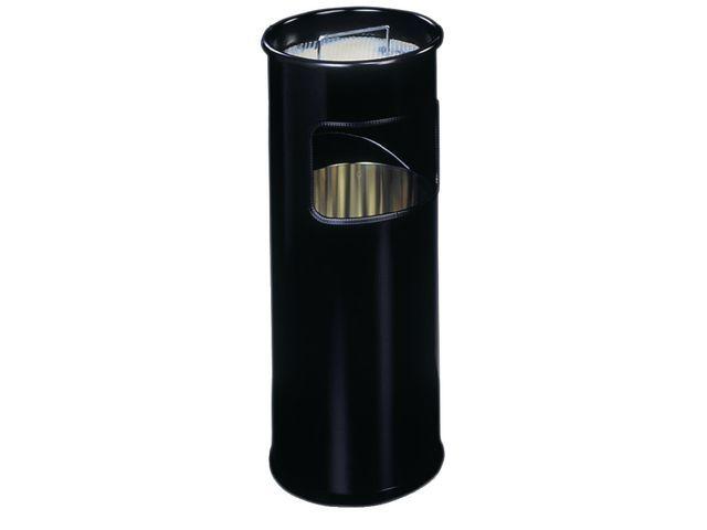 Durable Papierbak met asbak 17l zwart