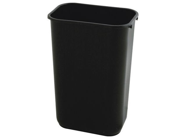 Rubbermaid Commercial Products Rubbermaid Commercial Products Kunststof recycling afvalbak 26.6 liter. Zwart. h 38 x b 36.8 x d 26 cm