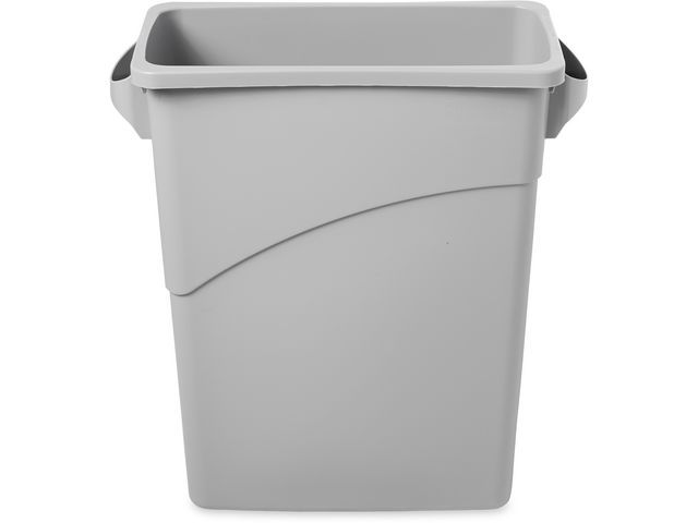 Rubbermaid Commercial Products Rubbermaid Commercial Products Slim Jim® afvalsysteem 60 Liter. grijs. 58.7 x 27.9 x 63.2 cm