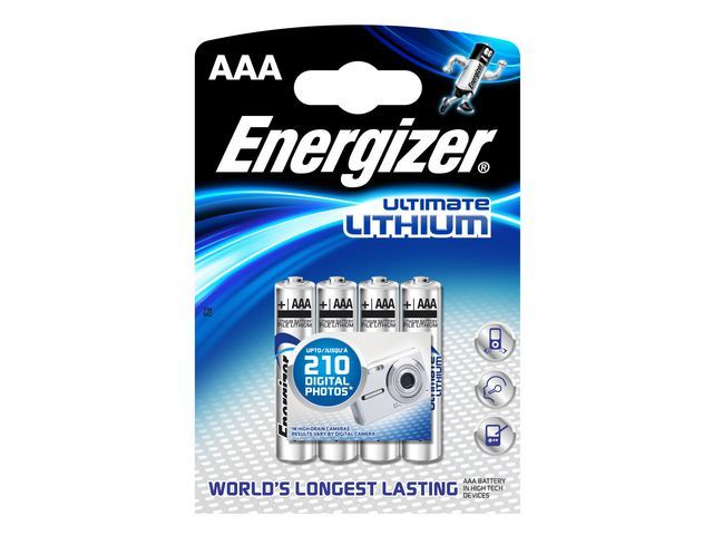 Energizer Energizer Batterij Ultimate Lithium AAA. LR03 (pak 4 stuks)