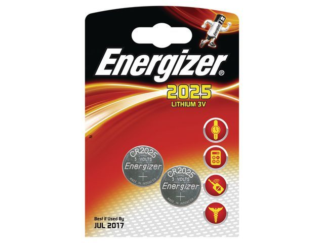 Energizer Batterij Energizer knoopcel CR2025/pak 2