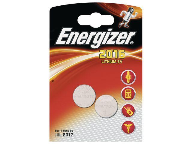 Energizer Energizer Batterij knoopcel CR2016 (pak 2 stuks)