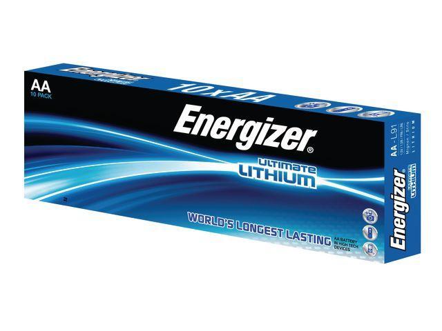 Energizer Energizer Batterij Ultimate Lithium AA. LR6. NL en LUX (pak 10 stuks)