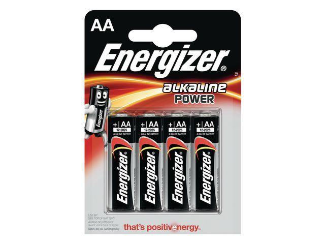 Energizer Energizer Alkaline Power AA / LR06 1.5 V niet-oplaadbare batterijen (pak 4 stuks)
