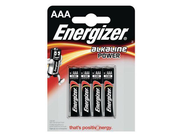 Energizer Energizer Alkaline Power AAA / LR03 1.5 V niet-oplaadbare batterijen (pak 4 stuks)