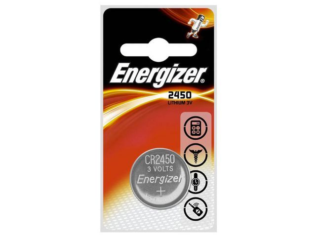 Energizer Energizer Miniknoopcelbatterij met lithium CR2450 niet-oplaadbaar blisterverpakking van 2 stuks (pak 2 stuks)