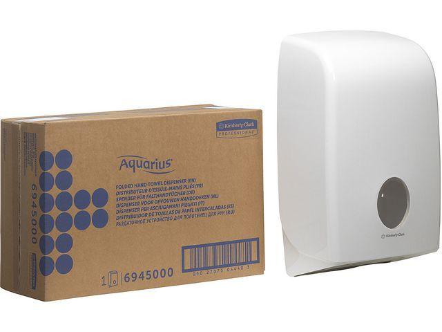 Aquarius (Kimberly-Clark) Handdoek dispenser Aquarius* gevouwen wt
