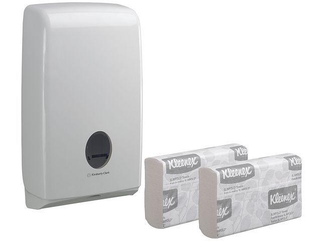 Aquarius (Kimberly-Clark) Handdoek dispenser Aquarius slimfold