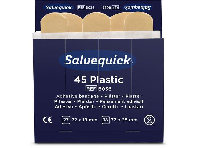 Salvequick Pleisters Salvequick waterproof/ds 6x45