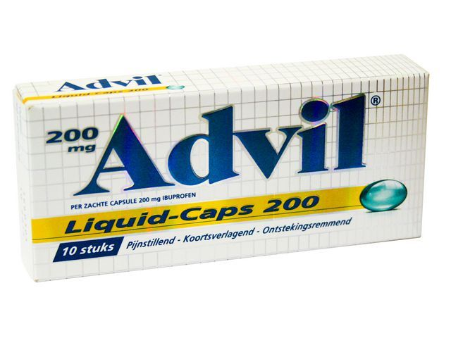 Advil Ibuprofen Advil liquid caps 200mg pk/10