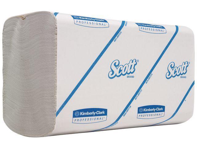 Scott® Handdoek Scott 1lgs 21.5x21cm wit/15x300