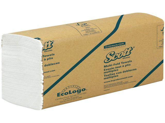 Scott® Handdoek Scott interg 1-lgs wt bx/16x250