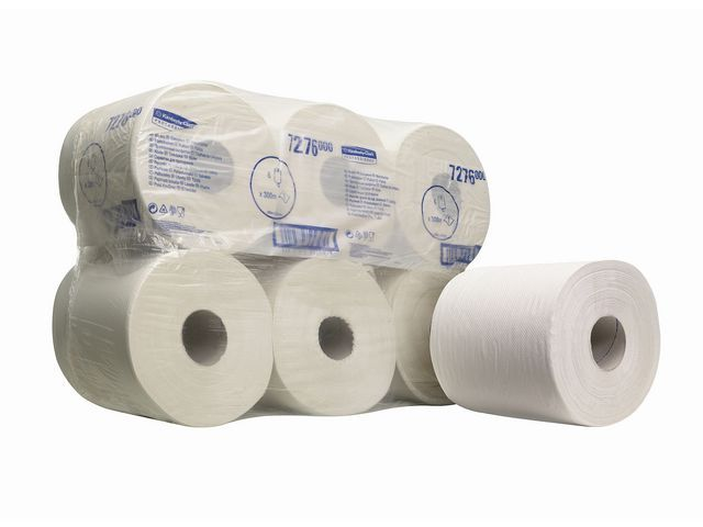 Kimberly-Clark Professional Poetsdoek KCP 1laags wit/pk6x300mtr