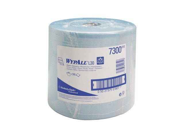 Wypall* Poetsdoek Wypall L30 2lgs blauwl/rl 500v