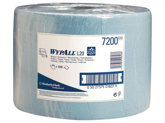 Wypall* Poetsdoek Wypall L20 1l blauw/rol 1000v