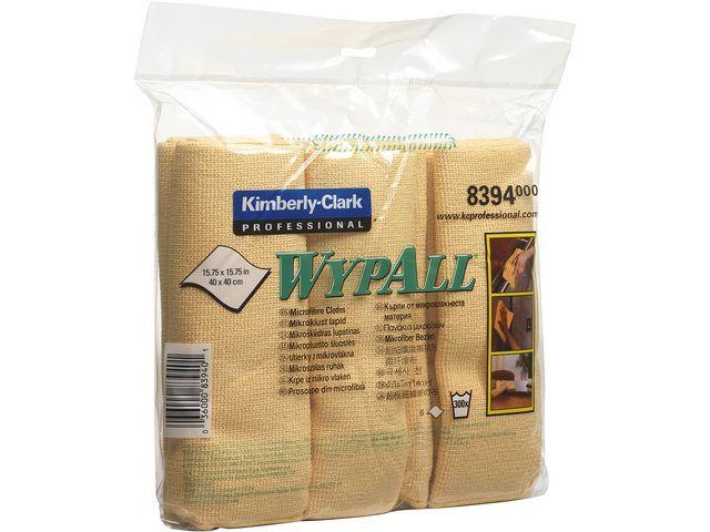 Wypall* Schoonmaakdoek Wypall microvezel gl/pk 6