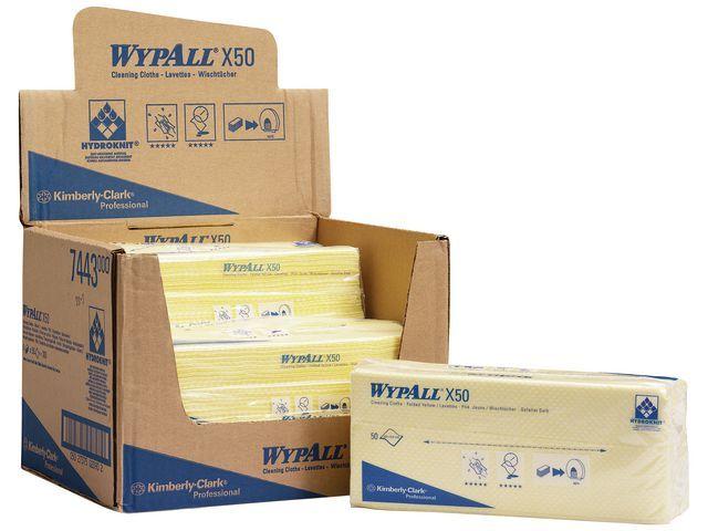 Wypall* Werkdoek Wypall geel/pk 50
