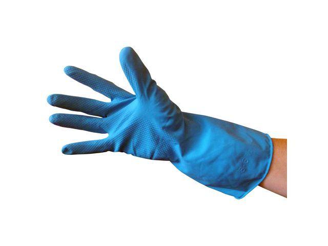 Huishoudhandschoen M blauw/set2