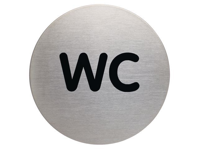 Durable pictogram WC staal