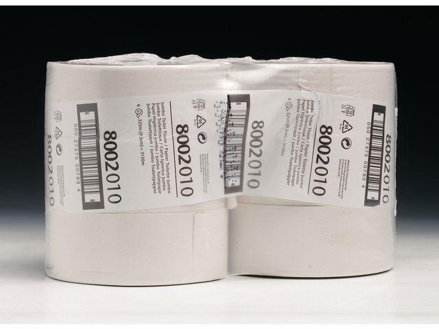 LUCART Toiletpapier jumbo 1l 9cm x525m wt/bx6rl