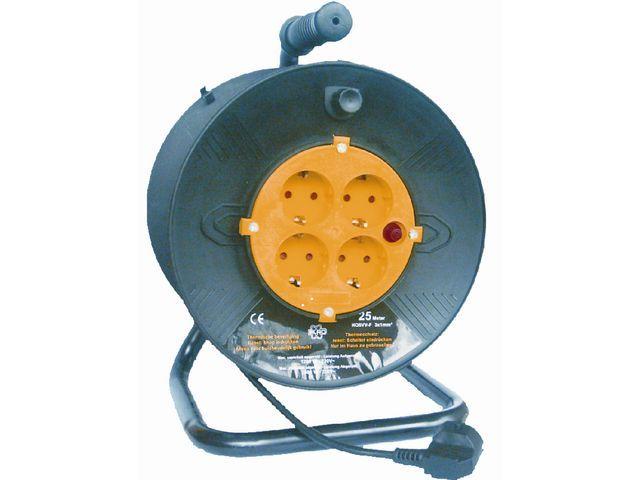 Kabelhaspel 25mtr therm beveiliging bl
