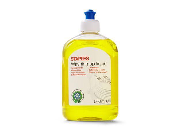 Staples Staples Vloeibaar afwasmiddel. citrus. 500 ml. geel. drukdop (pak 2 x 500 milliliter)