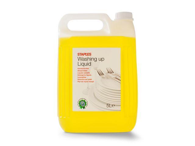 Staples Staples Afwasmiddel. citrus. geel. 5 l. schroefdop (fles 5 liter)