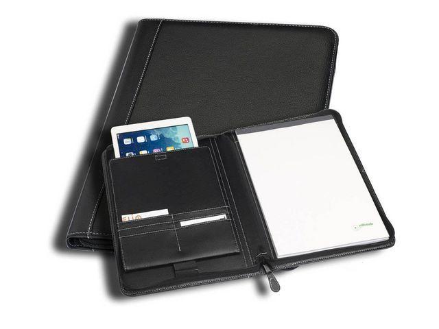 Rillstab Schrijfmap A4 met iPad vak Geneve zwart