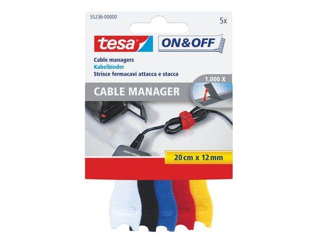 tesa® Kabelbinder tesa 0.2mx12mm assorti