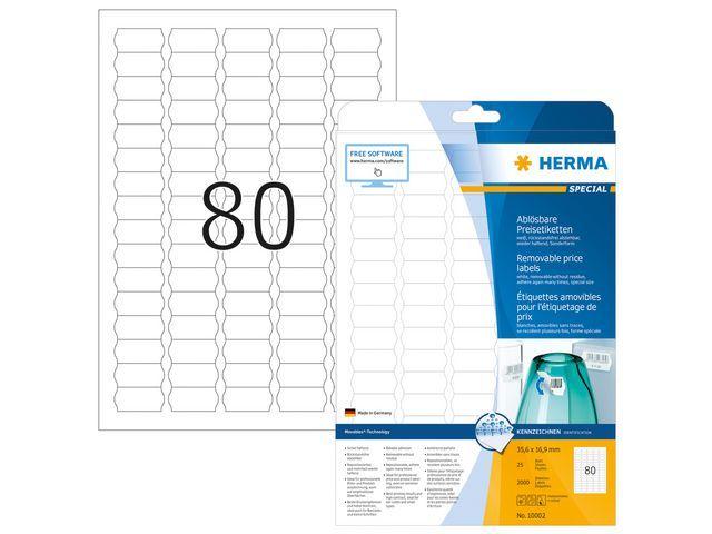 Herma Etiket ILC 36x17 afn. wit/pak 2000
