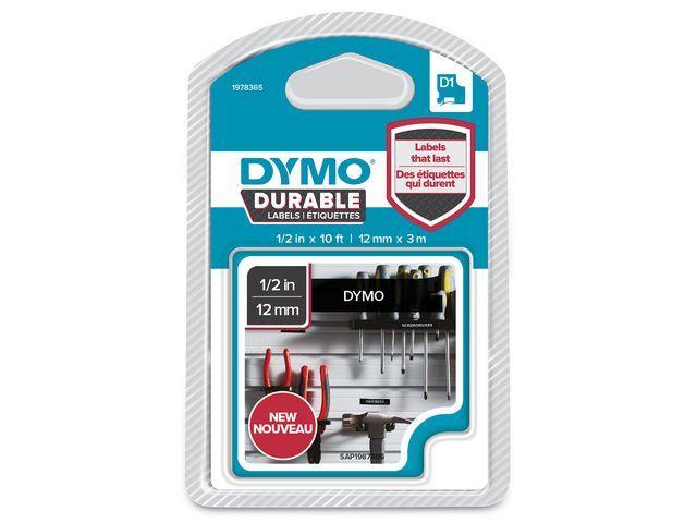 Dymo Tape Dymo D1 12mmx3m Wit/Zwart