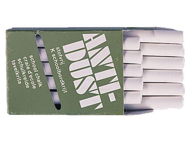 Krijt anti-dust wit/set 4x12