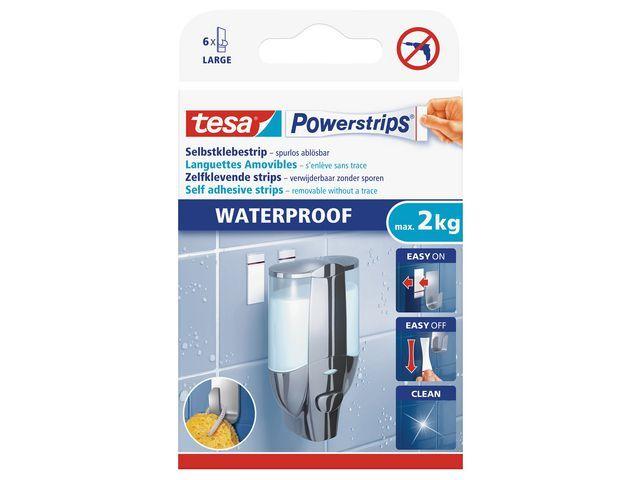 tesa® Kleefstrips 2kg waterproef L /pk 6