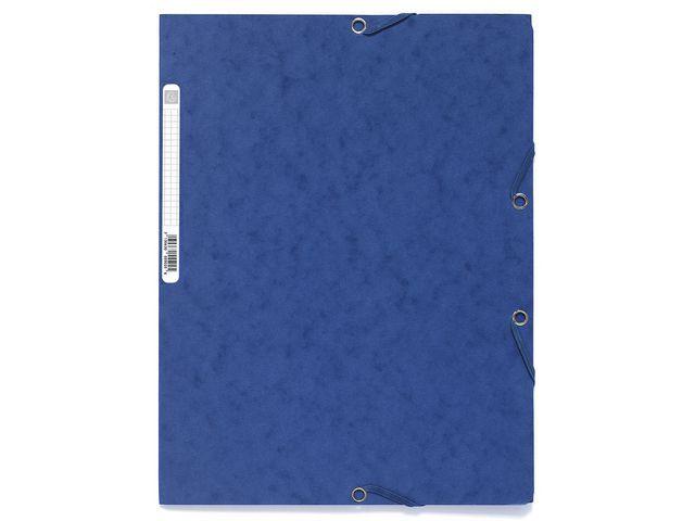 Exacompta Elastomap Exacompta 3-fl A4 400g blauw
