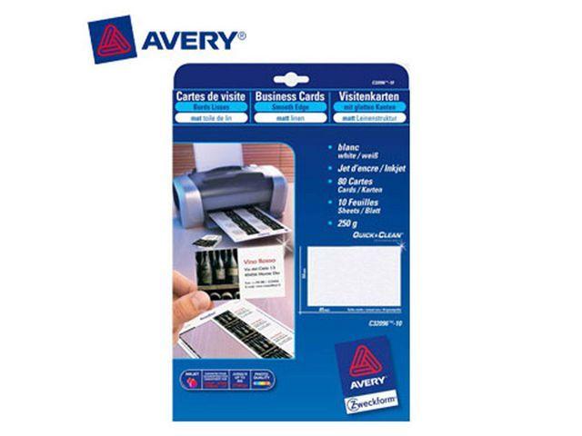 Avery Visitekaart Avery L 85x54 satijn/pk100