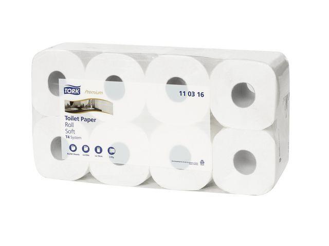 Tork Toiletpapier Tork soft 3-lgs/pk8x250vT