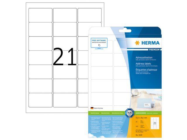 Herma Etiket ILC 64x38 prem wit/pk 525