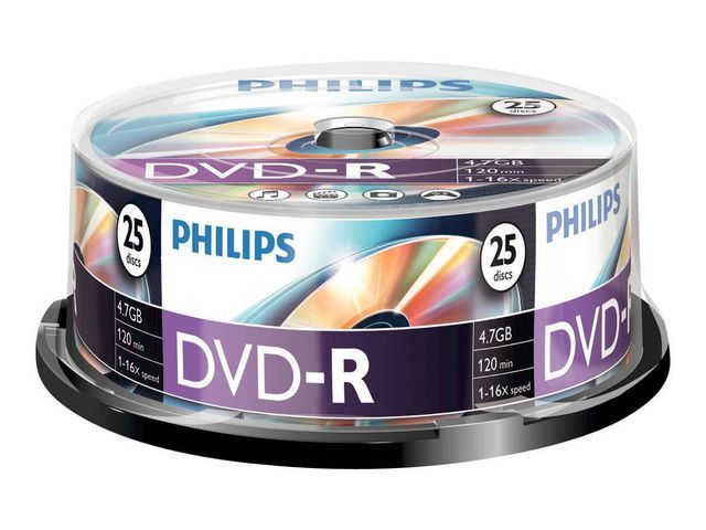Philips DVD-R Philips 4.7GB spindle 25