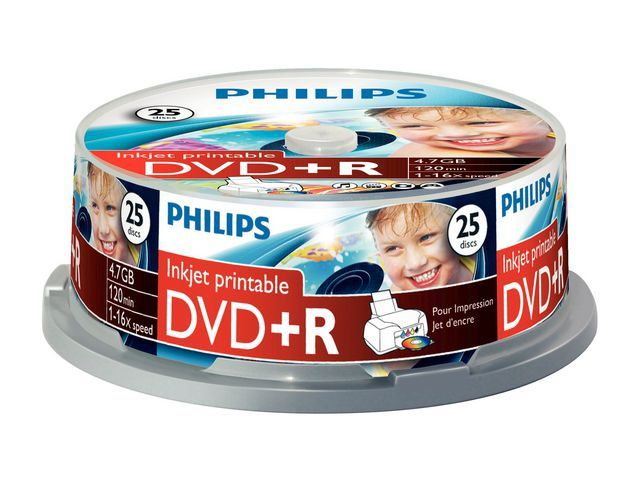 Philips DVD+R Philips 4.7GB spindle 25