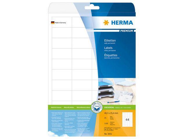 Herma Etiket ILC 48x25 prem wit/pak 1100