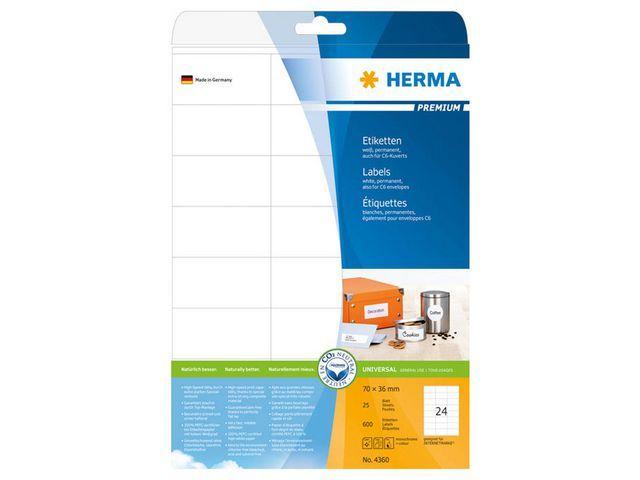 Herma Etiket ILC 70x36 prem wit/pak 600