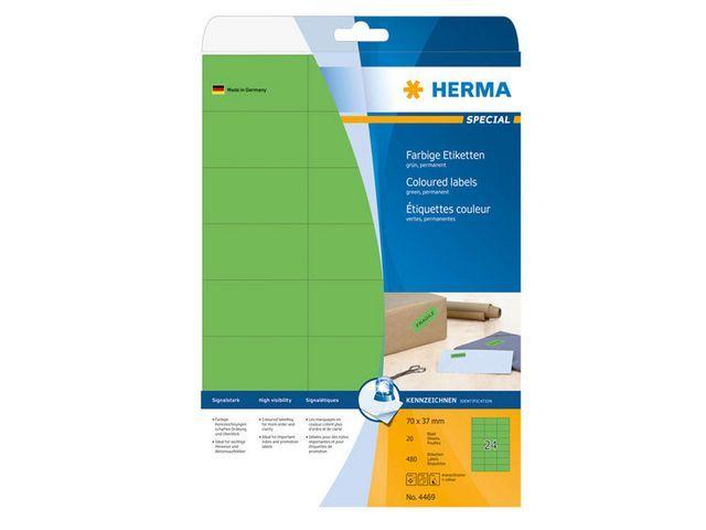 Herma Etiket ILC 70x37 groen/pak 480