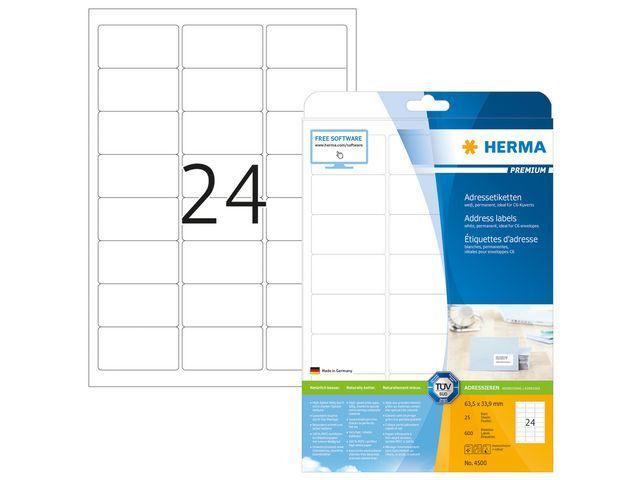 Herma Etiket ILC 64x34 prem wit/pk 600