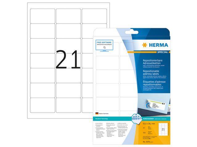 Herma Etiket ILC 64x38 afn. wit/doos 525