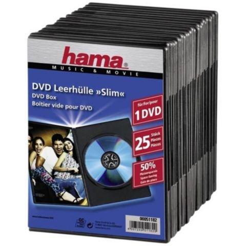 Hama DVD slimbox Hama zwart/pk25