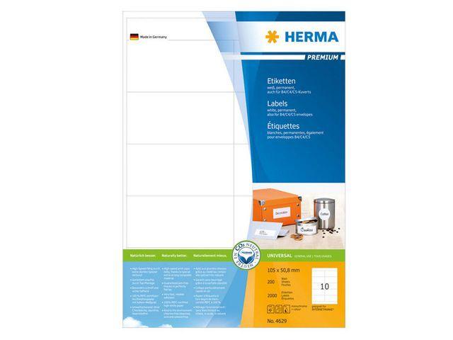Herma Etiket ILC 105x51 prem wit/pak 2000