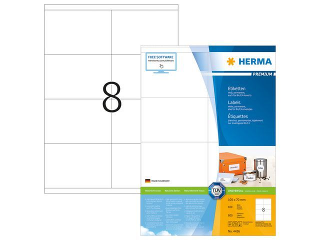Herma Etiket ILC 105x70 prem wit/pak 800