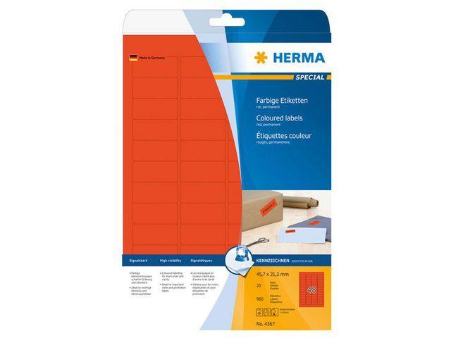 Herma Etiket ILC 46x21 rood/pak 960